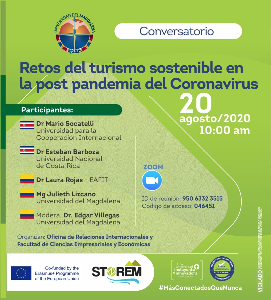 Webinar retos turismo Webinar: Challenges for sustainable tourism in the post-pandemic of Coronavirus