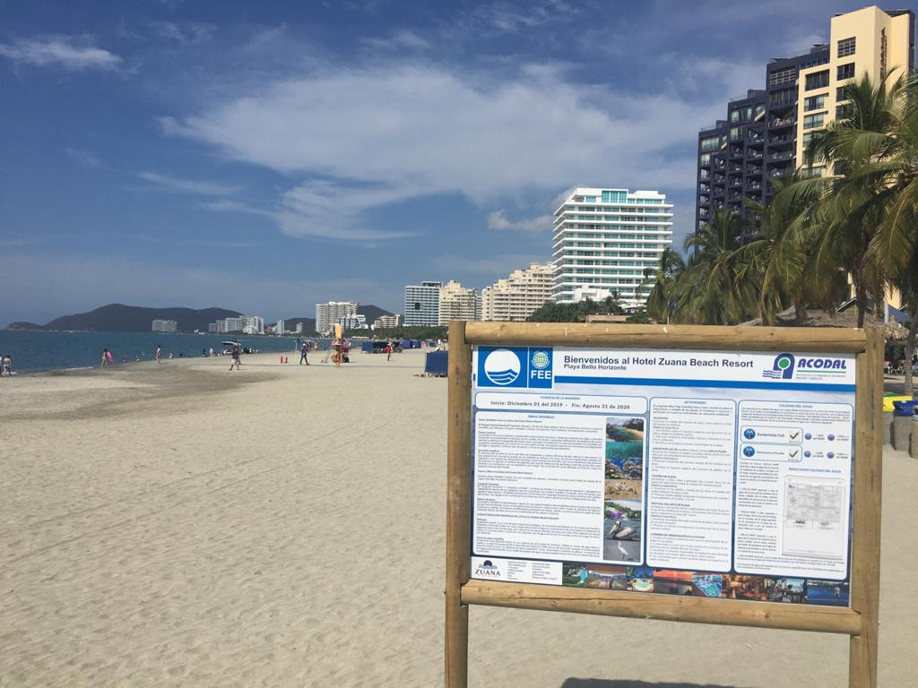 "IMG sign beach 1 Capacity Building Workshop on the International ""Blue Flag"" Program for Beach Certification"