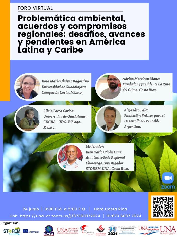 Foro1 STOREM UNA 2021 junio Foros Virtuales de la UNA sobre el Medio Ambiente y Turismo Sostenible