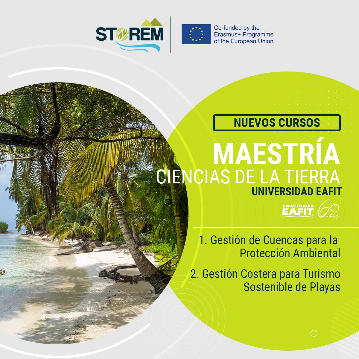 maestria de ciencias de la tierra EAFIT New courses at EAFIT in the STOREM pathway